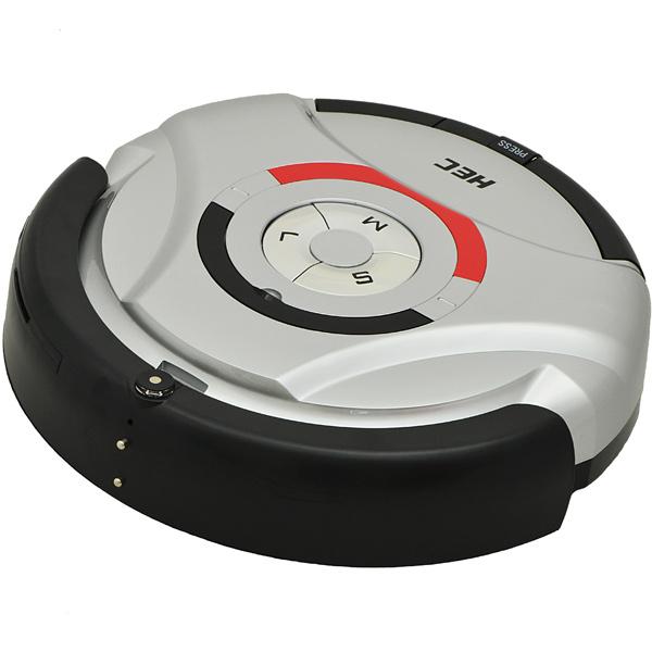 Робот-пылесос HECРобот-пылесос<br>Вес: 3.2 кг,<br>Сухая уборка: Да,<br>Пульт ДУ: в комплекте,<br>Зарядка от сети 220 В: Да,<br>Ориентация в пространстве: инфракрасный луч,<br>Отложенный старт: Да,<br>Вид гарантии: гарантийный талон,<br>Боковая щеточка: Да,<br>Встроенные часы: Да,<br>Возоб. уборки с прерв. участка после подзарядки: Да,<br>Отключение при перегреве: Да,<br>Индикация включения: Да,<br>Кол-во режимов работы: 4,<br>Таймер включения: Да,<br>Работа от аккумулятора: до 60 мин,<br>Тип батарей пульта ДУ: 2 х AAA (LR03),<br>Микрофильтр: Да,<br>Батареи пульта ДУ: в комплекте<br>