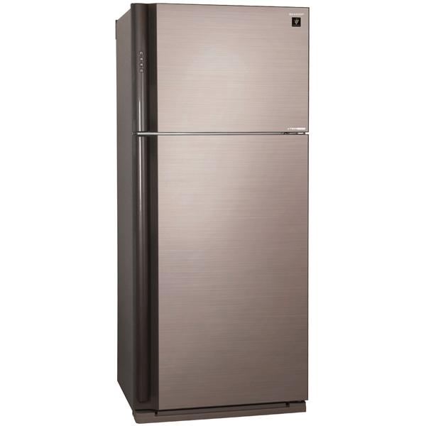 Холодильник с верхней морозильной камерой Широкий SharpШирокие холодильники с верхней морозильной камерой<br>Энергопотребление в год: 360 кВтч,<br>Тип компрессора: инверторный,<br>Дизайнерская коллекция: Отделка под стекло,<br>Режим суперохлаждения: Да,<br>Разм. холод. камеры: автомат.(No Frost),<br>Расположение мороз.камеры: верхнее,<br>Ящиков в отд. для овощей: 2,<br>Ионизатор зоны сохр. свежести: Да,<br>Выдвижная полка: Да,<br>Габаритные размеры (В*Ш*Г): 185*80*73.5 см,<br>Разм. мороз. камеры: автомат.(No Frost),<br>Тип дисплея: цифровой,<br>Хранение при откл. питания: 18 ч,<br>Полок в холодильной камере: 4<br>