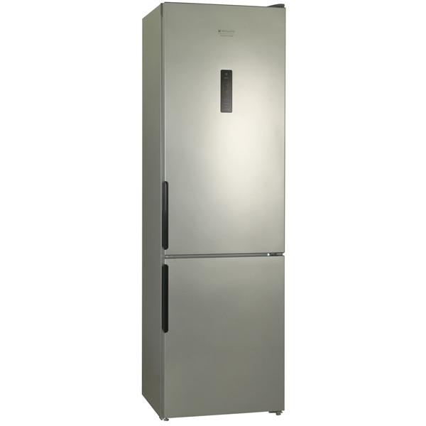 Холодильник с нижней морозильной камерой Hotpoint-AristonХолодильники с нижней морозильной камерой<br>Тип дисплея: цифровой,<br>Разм. холод. камеры: автомат.(No Frost),<br>Количество камер: 2,<br>Режим суперохлаждения: Да,<br>Энергопотребление в год: 376 кВтч,<br>Очистка воздуха: Да,<br>Ванночки для льда: 2 шт,<br>Выдвижная полка: Да,<br>Полок на двери хол. камеры: 4,<br>Вид гарантии: гарантийный талон,<br>Подставка для яиц: Да,<br>Свет.сиг. двери холод.к-ры: Да,<br>Класс энергоэффективности: A,<br>Объем морозильной камеры: 75 л,<br>Объем холодильной камеры: 247 л,<br>Тип компрессора: стандартный,<br>Инд. темп. в мороз. к-ре: Да<br><br>Ширина см: 60<br>Вес кг: 69<br>Глубина см: 64<br>Высота см: 200<br>Цвет : серебристый