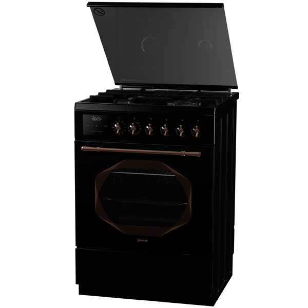 Газовая плита (60 см) GorenjeГазовые плиты<br>Объем духовки: 67 л,<br>Цвет: черный,<br>Высота: 85 см,<br>Глубина: 60 см,<br>Ширина: 60 см,<br>Термостат духовки: Да,<br>Тип гриля: электрический,<br>Решетка: чугунная,<br>Защита от случайного вкл.: Да,<br>Тип духовки: электрический,<br>Встроенные часы: Да,<br>Плоский противень: 1 шт,<br>Инд. времени до конца программы: Да,<br>Страна: Словения,<br>Металлическая решетка: 1 шт,<br>Электронный программатор: Да,<br>Количество конфорок: 4,<br>Вид гарантии: гарантийный талон,<br>Глубокий противень : 1 шт,<br>Ящик для посуды: выдвижной<br><br>Вес кг: 54.7<br>Ширина см: 60<br>Глубина см: 60<br>Высота см: 85<br>Цвет : черный