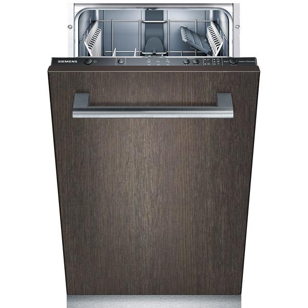 Встраиваемая посудомоечная машина 45 см SiemensВстраиваемая посудомоечная машина 45см<br>Ширина: 448 мм,<br>Верхний разбрызгиватель: Да,<br>Глубина: 550 мм,<br>Высота: 815 мм,<br>Автоотключение: Да,<br>Гарантия: 1 год,<br>Уровень шума: 52 дБ,<br>Тип управления: электронный,<br>Предварит. ополаскивание: Да,<br>Режим неполная загрузка: Да,<br>Страна: Германия,<br>Максимальная вместимость: 9 комплектов,<br>Встроенный теплообменник: Да,<br>Расход воды за цикл: 13 л,<br>Количество программ мойки: 4,<br>Использование средств 3 в 1: Да,<br>Размер ниши (В*Ш*Г): 815*450*550 мм,<br>Вид гарантии: по чеку,<br>Тип двигателя: инверторный<br>