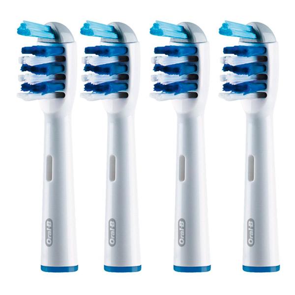 Насадка для электрической зубной щетки Oral-B Braun EB30 TriZone 4шт