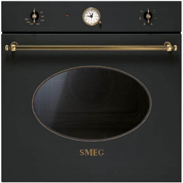 Встраиваемый электрический духовой шкаф SmegВстраиваемый электрический духовой шкаф<br>Встроенные часы: Да,<br>Объем духовки: 70 л,<br>Вес: 33.5 кг,<br>Вид гарантии: гарантийный талон,<br>Стекло дверцы духовки: 3-слойное,<br>Режимы работы духовки: 6,<br>Звуковой таймер: до 90 минут,<br>Тип освещения: галогеновое,<br>Открытие дверцы: вниз,<br>Глубокий противень : 1 шт,<br>Ширина: 597 мм,<br>Глубина: 571 мм,<br>Металлическая решетка: 1 шт,<br>Высота: 592 мм,<br>Страна: Италия,<br>Таймер выключения : Да,<br>Конвекция: Да,<br>Внутреннее покрытие: эмаль,<br>Тип управления: механический,<br>Размер ниши (В*Ш*Г): 583*564*560 мм<br><br>Ширина мм: 597<br>Вес кг: 33.5<br>Глубина мм: 571<br>Высота мм: 592<br>Цвет : антрацит