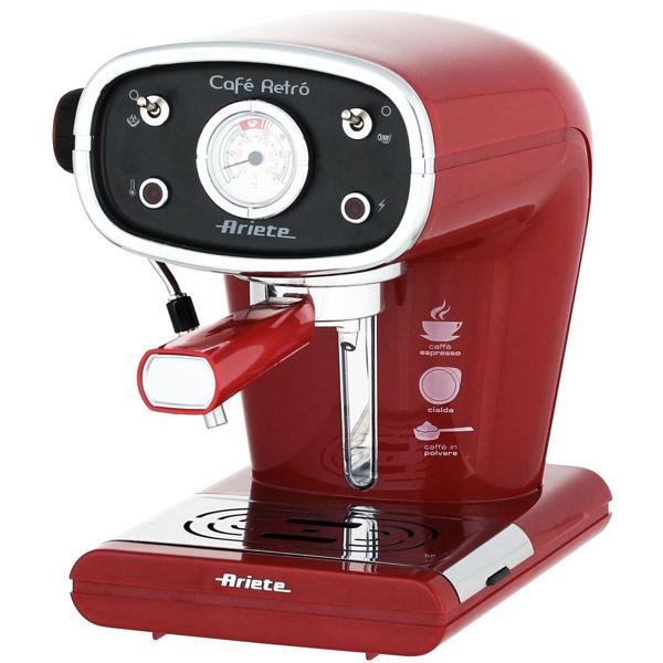 Кофеварка рожкового типа Ariete 1388A Retro Red тостер ariete 186 party time red