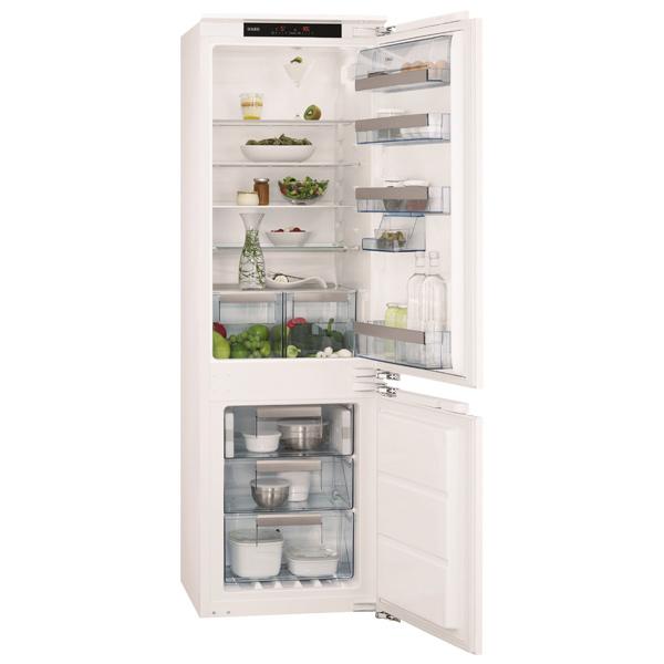 Встраиваемый холодильник комби AEGВстраиваемые холодильники комби<br>Тип дисплея: цифровой,<br>Ширина: 556 мм,<br>Высота: 1768 мм,<br>Глубина: 549 мм,<br>Подставка для яиц: Да,<br>Количество компрессоров: 1,<br>Цвет: белый,<br>Полок в холодильной камере: 4,<br>Сигнал открытой двери: звуковой/ световой,<br>Уровень шума: 39 дБ,<br>Климатический класс: SN-N-ST-T,<br>Страна: Италия,<br>Количество камер: 2,<br>Тип освещения: светодиодное,<br>Система No Frost: в морозильном отделении,<br>Разм. мороз. камеры: автомат.(No Frost),<br>Хранение при откл. питания: 23 ч,<br>Сигнал о повышении температуры: звуковой/ световой<br><br>Вес кг: 61<br>Ширина мм: 556<br>Глубина мм: 549<br>Высота мм: 1768<br>Цвет : белый
