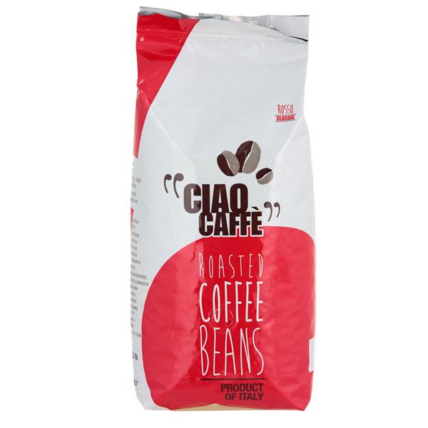 Кофе в зернах CiaoCaffeКофе в зернах<br>Вес: 1000 г,<br>Тип упаковки: пакет,<br>Клапан дегазации: Да,<br>Робуста: 30 %,<br>Арабика: 70 %,<br>Кофе в зернах: Да,<br>Страна: Италия,<br>Срок годности: 2 года,<br>Серия: Rosso Classic<br>