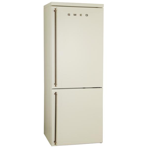 Холодильник с нижней морозильной камерой SmegХолодильники с нижней морозилкой премиум<br>Сигнал открытой двери: звуковой,<br>Полок на двери хол. камеры: 4,<br>Подставка для яиц: Да,<br>Вес: 124.4 кг,<br>Кронштейн для бутылок: Да,<br>Класс энергоэффективности: A+,<br>Система No Frost: в холодильном и морозильном отделении,<br>Объем холодильной камеры: 264 л,<br>Объем морозильной камеры: 82 л,<br>Открытие дверцы: направо,<br>Зона сохранения свежести: сухая,<br>Тип управления: электронный,<br>Уровень шума: 43 дБ,<br>Количество камер: 2,<br>Аккумулятор холода в комп.: 2,<br>Общий объем: 346 л,<br>Инд. темп. в холод. к-ре: Да<br>