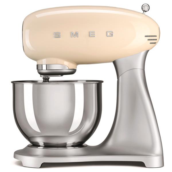 Кухонная машина SmegКухонные машины<br>Крюк для замешивания теста: Да,<br>Потребляемая мощность: 800 Вт,<br>Отключение при перегреве: Да,<br>Серия: 50-е,<br>Отсек для сетевого шнура: Да,<br>Объем чаши: 4.8 л,<br>Цвет: кремовый,<br>Страна: КНР,<br>Металл. венчик д/взбивания: 2 шт,<br>Тип управления: механический,<br>Планетарное движение насадок: Да,<br>Вес: 9.5 кг,<br>Лопаточка: Да,<br>Управление: 10 скоростей,<br>Материал чаши: нерж. сталь,<br>Материал корпуса: алюминий,<br>Вид гарантии: гарантийный талон,<br>Длина сетевого шнура: 1 м<br><br>Вес кг: 9.5<br>Цвет : кремовый
