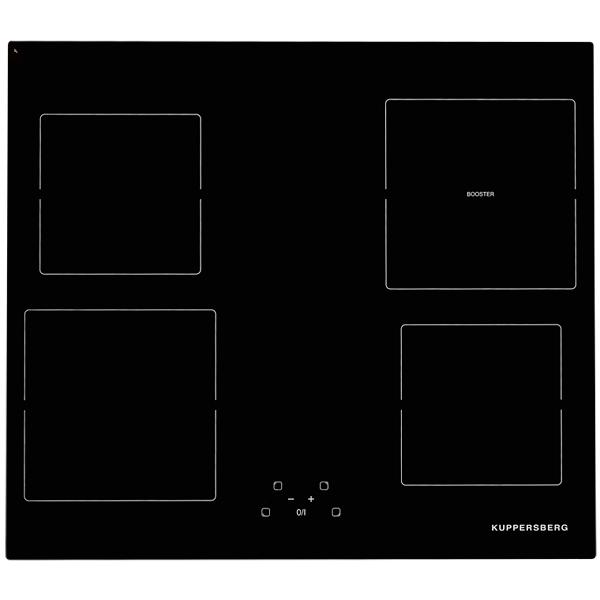Встраиваемая индукционная панель KuppersbergВстраиваемые индукционные панели<br>Автоматическое выключение: Да,<br>Тип дисплея: сенсорный,<br>Ближняя, левая конфорка: 19 см,<br>Размер ниши (Ш*Г): 560*490 мм,<br>Размещение панели управ.: спереди,<br>Дальняя, левая конфорка: 16 см,<br>Варочная панель: независимая,<br>Самодиагностика неисправн.: Да,<br>Базовый цвет: черный,<br>Защита от детей: Да,<br>Таймер отключения конфорок: Да,<br>Количество конфорок: 4,<br>Аварийное отключение конф.: Да,<br>Потребляемая мощность: 6050 Вт,<br>Габаритные размеры (Ш*Г): 590*520 мм,<br>Тип управления: сенсорный,<br>Страна: Франция<br><br>Вес кг: 8<br>Ширина мм: 590<br>Глубина мм: 520<br>Цвет : черный