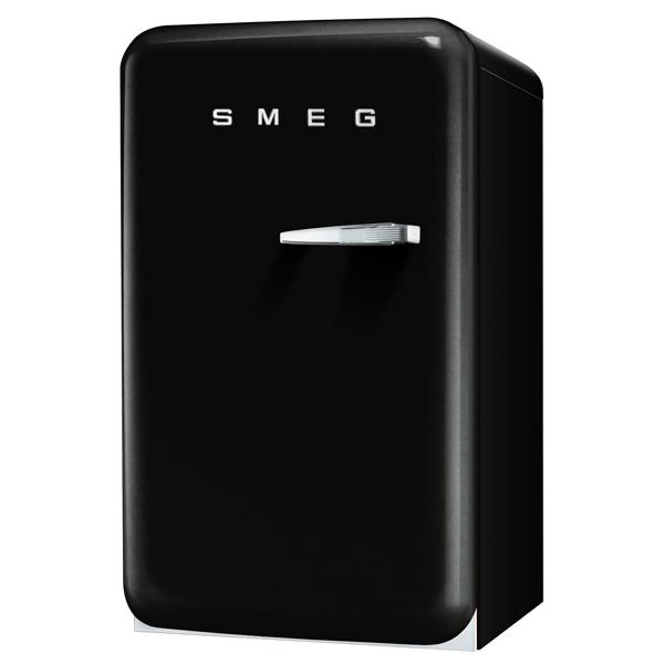 Холодильник однодверный Премиум SmegОднодверные холодильники<br>Страна: Италия,<br>Формочки для льда: Да,<br>Отделений в мороз. камере: 1,<br>Фикс. полок против выдвиж.: Да,<br>Освещение холод. камеры: Да,<br>Общий объем: 120 л,<br>Вид гарантии: гарантийный талон,<br>Количество камер: 2,<br>Полок в холодильной камере: 3,<br>Количество компрессоров: 1,<br>Индикация включения: Да,<br>Энергопотребление в год: 169 кВтч,<br>Глубина: 68 см,<br>Высота: 96 см,<br>Тип освещения: светодиодное,<br>Материал двери: пластик,<br>Разм. холод. камеры: автомат.(капельное),<br>Ширина: 54.3 см,<br>Количество дверей: 1,<br>Цвет: черный<br><br>Вес кг: 42.5<br>Ширина см: 54.3<br>Глубина см: 68<br>Высота см: 96<br>Цвет : черный