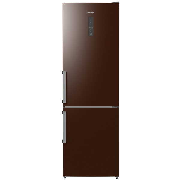 Холодильник с нижней морозильной камерой GorenjeХолодильники с нижней морозильной камерой<br>Количество дверей: 2,<br>Вид гарантии: гарантийный талон,<br>Система No Frost: в морозильном отделении,<br>Подставка для яиц: Да,<br>Тип управления: электронный,<br>Режим суперзамораживания : Да,<br>Разм. мороз. камеры: автомат.(No Frost),<br>Полок в холодильной камере: 4,<br>Страна: Сербия,<br>Хранение при откл. питания: 18 ч,<br>Уровень шума: 42 дБ,<br>Объем морозильной камеры: 85 л,<br>Объем холодильной камеры: 222 л,<br>Звук.сиг. двери холод.к-ры: Да,<br>Тип освещения: светодиодное,<br>Класс энергоэффективности: A<br><br>Вес кг: 68<br>Ширина см: 60<br>Глубина см: 64<br>Высота см: 185<br>Цвет : коричневый