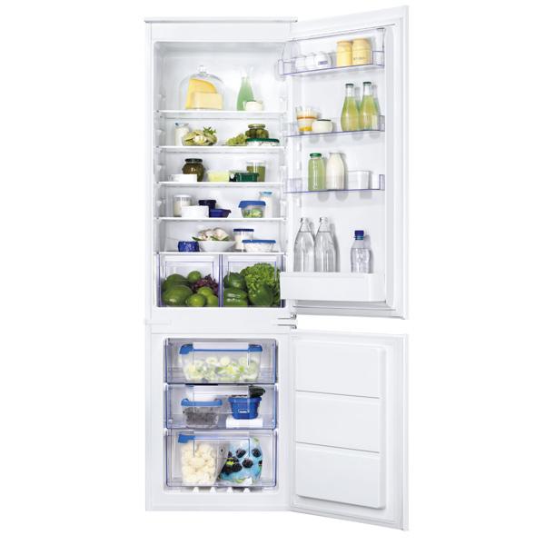 Встраиваемый холодильник комби Zanussi