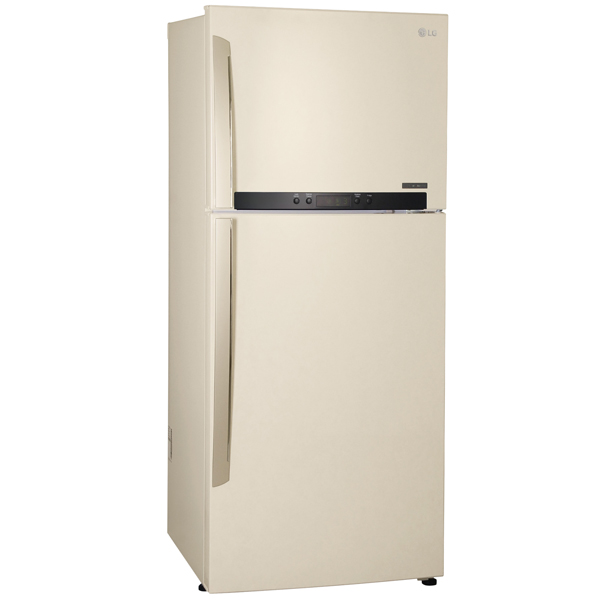 Холодильник с верхней морозильной камерой Широкий LG GC-M432HEHL
