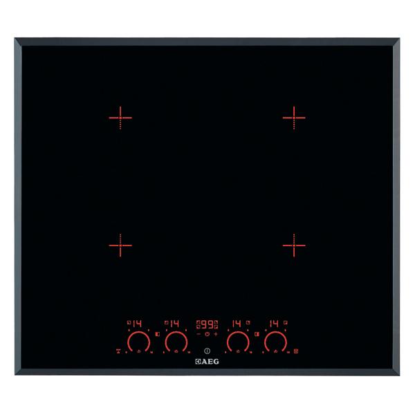 Встраиваемая индукционная панель AEGВстраиваемые индукционные панели<br>Габаритные размеры (Ш*Г): 590*520 мм,<br>Автоматика закипания: на 4-х конф.,<br>Расширение зоны нагрева: на 4-х конф.,<br>Инд. выбранной мощности: Да,<br>Края панели: скошенные,<br>Тип конфорок: индукционные,<br>Инд. времени приготовления: Да,<br>Вес: 11.42 кг,<br>Мин.толщина столешницы (мм): 40,<br>Защита от детей: Да,<br>Самодиагностика неисправн.: Да,<br>Потребляемая мощность: 7400 Вт,<br>Количество конфорок: 4,<br>Ближняя, правая конфорка: 18/21 см,<br>Отключение при проливе жидкости : Да,<br>Режим быстрый нагрев: Да<br><br>Ширина мм: 590<br>Вес кг: 11.42<br>Глубина мм: 520<br>Цвет : черный