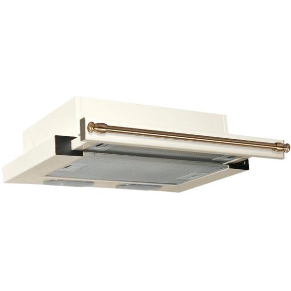 Вытяжка встраиваемая в шкаф 60 см Elikor Интегра 60 Milk/Rails Bronze