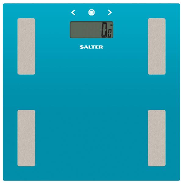 Весы напольные SalterВесы напольные<br>Цвет: голубой,<br>Тип весов: электронные,<br>Режим спорт: Да,<br>Батареи в комплекте: Да,<br>Память измерения веса: на 8 человек,<br>Вид гарантии: гарантийный талон,<br>Ввод данных о человеке: пол/ возраст/ рост,<br>Память предыдущего взвешив.: Да,<br>Измерение мышечной массы: Да,<br>Вес: 1.6 кг,<br>Индикация перегрузки: Да,<br>Вычисление BMI (индекс массы тела): Да,<br>Инд. увелич./снижения жировой массы: Да,<br>Измерение уровня подкож. жира: Да,<br>Тип исп. батареи: 2 x AAA (LR 03),<br>Цифровой дисплей: 1 шт,<br>Погрешность: до 100 г<br><br>Вес кг: 1.6<br>Цвет : голубой