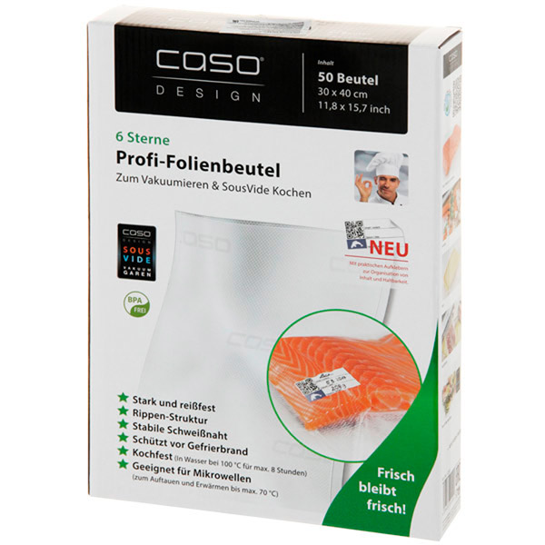 Пакет для вакуумного упаковщика Caso 30x40 см, 50 шт. (1220)