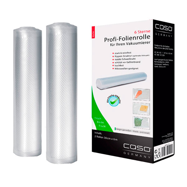 Рулон для вакуумного упаковщика Caso 30x600 см, 2 шт. (1222)