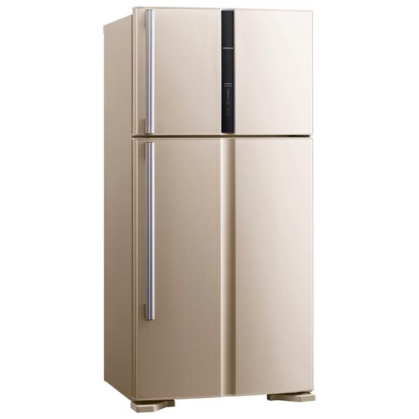 Hitachi, Холодильник с верхней морозильной камерой широкий, Big 2 Series R-V 662 PU3 BEG