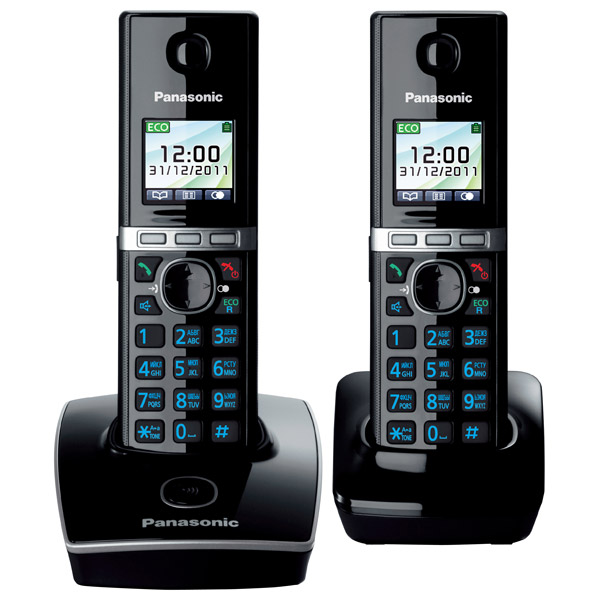 Телефон DECT Panasonic KX-TG8052RUB panasonic kx tgh222 rub black dect телефон
