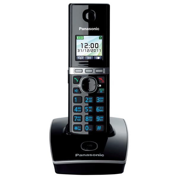 Радиотелефон DECT PanasonicDECT радиотелефоны<br>Встроенные часы: Да,<br>Проводная гарнитура: доп.опция,<br>Блок питания: в комплекте,<br>Время зарядки аккумулятора: до 7 часов,<br>Кол-во аккумуляторов в трубке: 2,<br>Базовый цвет: черный,<br>Краткое описание: АОН;черный,<br>GAP совместимость: Да,<br>Дальность (откр. простр.): до 300 метров,<br>Дальность (в помещении): до 50 метров,<br>Память принятых вызовов: до 50 номеров,<br>Функция Caller ID: Да,<br>Записная книжка: до 200 номеров,<br>Количество мелодий: 40,<br>Цветной дисплей трубки: Да,<br>Разъем для гарнитуры: 1<br>