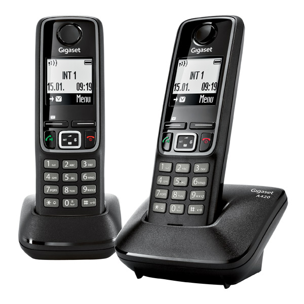 Радиотелефон DECT Gigaset A420 DUO Black