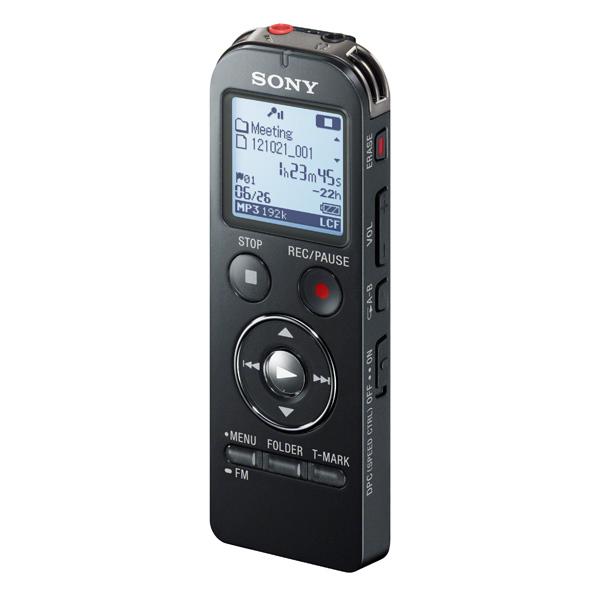 Диктофон цифровой SonyЦифровые диктофоны<br>Активизация голосом: Да,<br>Адаптер д/подключ. к телефон. линии: доп.опция,<br>Цвет: черный,<br>Глубина: 14 мм,<br>Sleep-таймер: Да,<br>Высота: 102 мм,<br>Ширина: 37 мм,<br>Зарядка от USB порта: Да,<br>Цифровая карта памяти: Да,<br>Вид гарантии: гарантийный талон,<br>Материал корпуса: пластик,<br>Диагональ дисплея: 1.36 ,<br>Наименование аккумулятора: HR03,<br>Кабель аудио 3.5 мм - 3.5 мм: доп.опция,<br>Карта памяти: доп.опция,<br>Встроенный динамик: 1,<br>Экранное меню: русифицир.,<br>Кабель USB: в комплекте,<br>Тип аккумулятора: Ni-Mh<br><br>Вес г: 58<br>Ширина мм: 37<br>Глубина мм: 14<br>Высота мм: 102<br>Цвет : черный