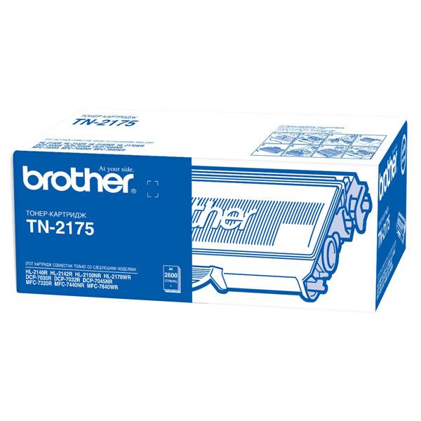 Картридж для лазерного принтера BrotherКартриджи для лазерных принтеров<br>Номер картриджа: TN-2175,<br>Цвет порошка: черный,<br>Черный картридж: Да,<br>Картриджей в комплекте: 1,<br>Ресурс картриджа (A4): 2600 страниц<br>