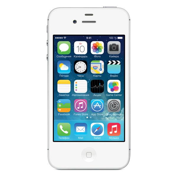 Смартфон Apple iPhone 4S 8Gb White (MF266RU/A). Доставка по России