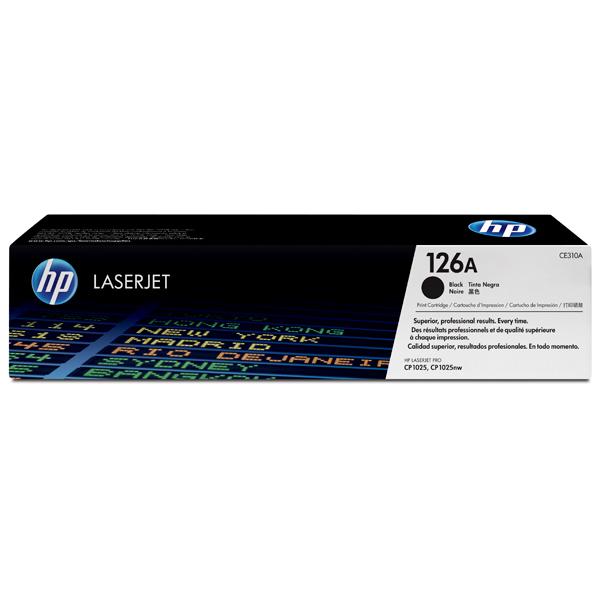 Картридж для лазерного принтера HP 126A LaserJet, черный CE310A картридж hp c7115x для laserjet 1200 увеличенный ресурс