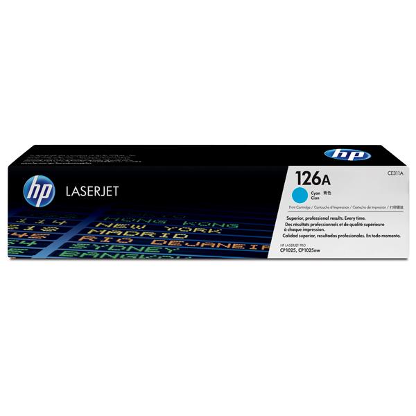 Картридж для лазерного принтера HP 126ALaserJet, синий CE311A