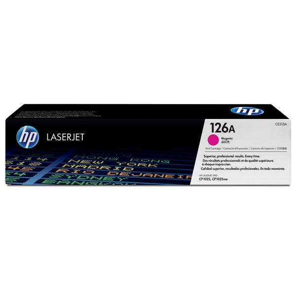Картридж для лазерного принтера HP 126A LaserJet, пурпурный CE313A