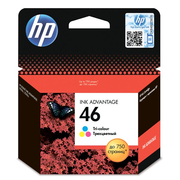 Картридж для струйного принтера HP 46 Tri-Colour Ink CZ638AE