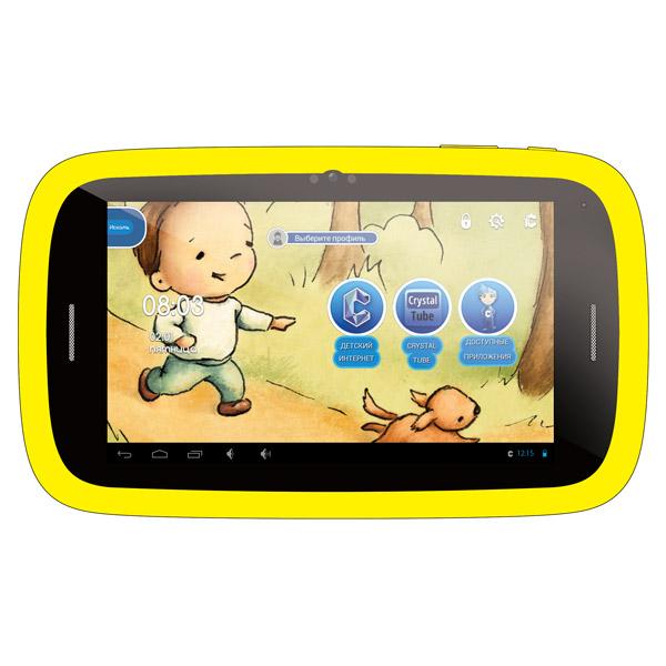 Планшетный компьютер для детей QumoПланшеты для детей<br>Диагональ экрана: 7(17.8 см),<br>Сенсорный дисплей: Да,<br>Работа от аккумулятора: до 6 часов,<br>Гарантия: 1 год,<br>Технология дисплея: IPS,<br>Кабель для связи с ПК: в комплекте,<br>Тип карты памяти: microSD, microSDHC,<br>Оперативная память (RAM): 512 МБ,<br>Частота процессора: 1 ГГц,<br>Серия: Kids Tab 2,<br>Страна: КНР,<br>Встроенная память (ROM): 4 ГБ,<br>Тип процессора: RK3026,<br>Разрешение фотокамеры: 2 МПикс,<br>Разъем 3.5 мм для подкл. гарнитуры: 1,<br>Wi-Fi точка доступа: Да,<br>Поддержка USB Host (OTG): Да,<br>Высота: 224 мм<br>