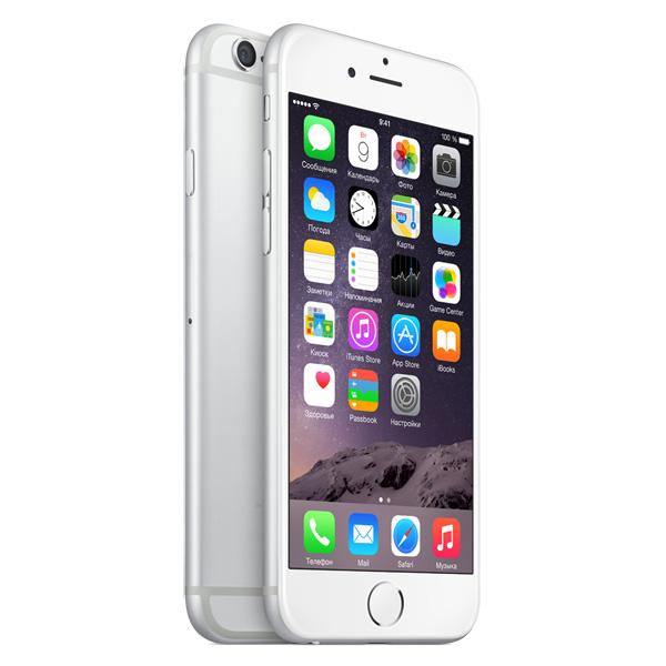 Купить Смартфон Apple iPhone 6 16GB Silver (MG482RU/A) недорого  Москва, Екатеринбург, Уфа, Новосибирск
