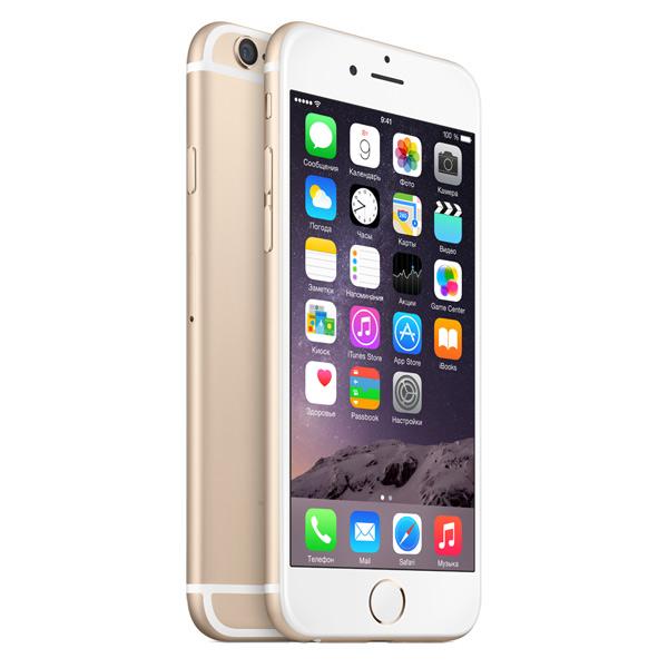 Купить Смартфон Apple iPhone 6 128GB Gold (MG4E2RU/A) недорого