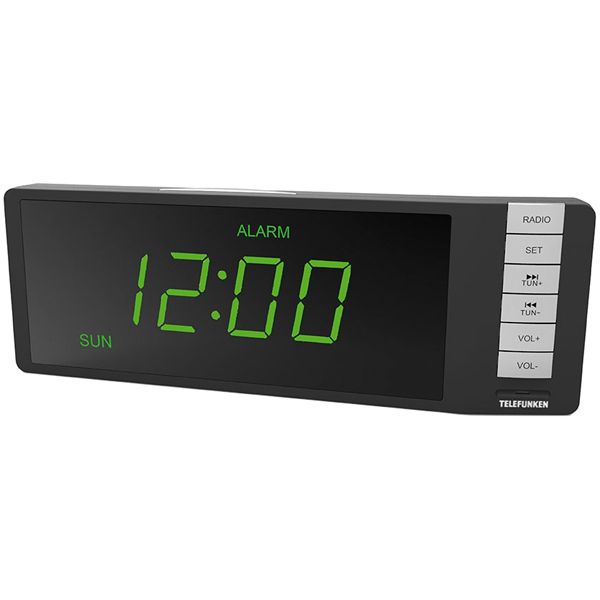 Радио-часы Telefunken TF-1507 Black/Green