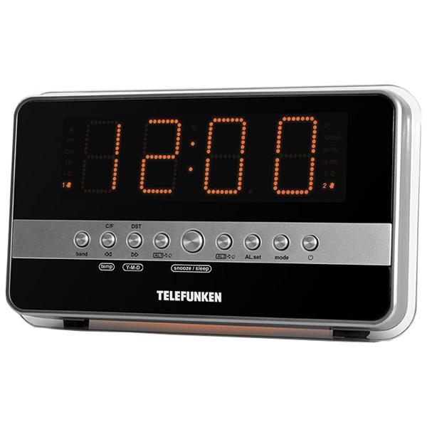 Радио-часы Telefunken TF-1549 Silver/Orange