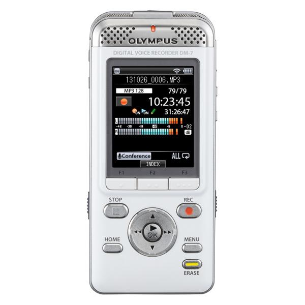 Диктофон цифровой OlympusЦифровые диктофоны<br>Формат записи: PCM/MP3/WMA,<br>Разъем для микрофона 3.5 мм: 1,<br>Вес: 105 г,<br>Диагональ дисплея: 2 ,<br>Голосовые оповещения: Да,<br>Цифровая карта памяти: Да,<br>Встроенный модуль Wi-Fi: Да,<br>Цифровой дисплей: 1,<br>Зарядка от USB порта: Да,<br>Частотный диапазон: 40 Гц - 23 кГц,<br>Встроенный микрофон: 2,<br>Время зарядки аккумулятора: до 3 часов,<br>Аккумуляторов в комплекте: 1 шт,<br>Порт miniUSB 2.0: 1,<br>Кабель USB: в комплекте,<br>Ремень на запястье: в комплекте,<br>Встроенные стереомикрофоны: 1,<br>Активизация голосом: Да<br>