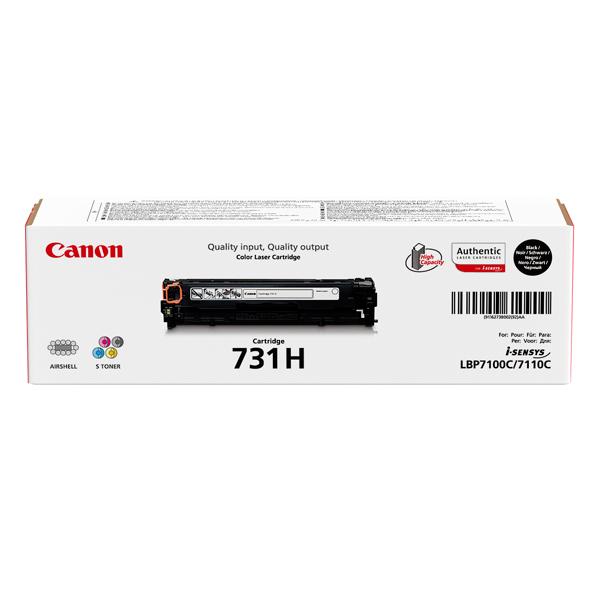 Картридж для лазерного принтера CanonКартриджи для лазерных принтеров<br>Номер картриджа: 731H,<br>Картридж повышенной емкости: Да,<br>Картриджей в комплекте: 1,<br>Ресурс картриджа (A4): 2400 страниц,<br>Черный картридж: Да,<br>Цвет порошка: черный<br>
