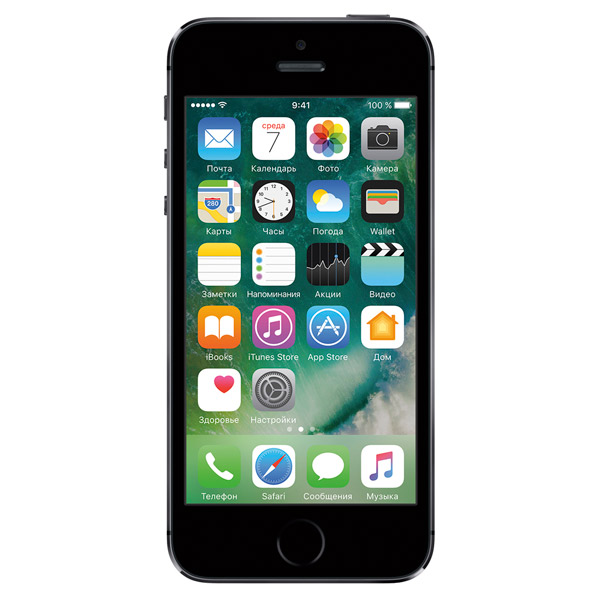 Смартфон Apple iPhone 5S 16Gb Space Gray (FF352RU/A) восстановл.. Доставка по России