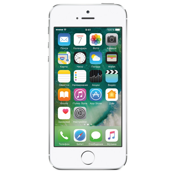 Смартфон Apple iPhone 5S 16Gb Silver (FF353RU/A) восстановленный. Доставка по России