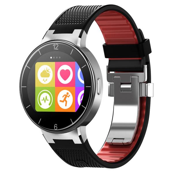 Смарт-часы Alcatel SM02 Black/Dark Red