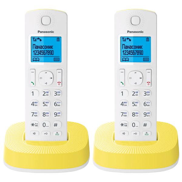 Радиотелефон DECT PanasonicDECT радиотелефоны<br>Дальность (в помещении): до 50 метров,<br>Подсветка дисплея трубки: Да,<br>Монохромный дисплей трубки: Да,<br>Материал корпуса: пластик,<br>Вес базы: 80 г,<br>Время зарядки аккумулятора: до 7 часов,<br>Вес трубки: 130 г,<br>Страна: Вьетнам,<br>Размер трубки (В*Ш*Г): 160*48*28 мм,<br>Блок питания: 2 в комплекте,<br>Память принятых вызовов: до 50 номеров,<br>Записная книжка: до 50 номеров,<br>Режим поиск трубки: Да,<br>Количество мелодий: 15,<br>Режим Intercom: Да,<br>Быстрый набор из памяти: 5,<br>Функция Caller ID: Да<br>