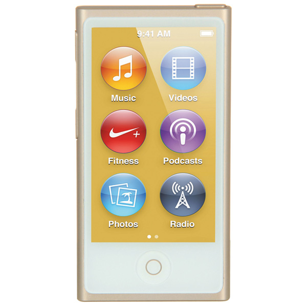 Плеер MP3 Apple iPod Nano 16GB Gold (MKMX2RU/A) apple ipod nano chromatic 4g 8gb