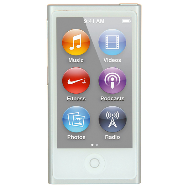 Плеер MP3 Apple iPod Nano 16GB White/Silver (MKN22RU/A) apple ipod nano chromatic 4g 8gb