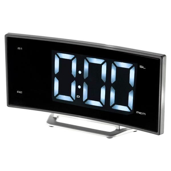 Радио-часы MAXРадио-часы<br>Цифровой дисплей: 1,<br>Цвет светящихся символов: синий,<br>Тип управления: электронный/механич.,<br>Материал корпуса: пластик,<br>Цвет: черный,<br>Тип батареи для сохр.настроек: 1 x CR2032,<br>Цифровой тюнер: 10 FM,<br>Блок питания: в комплекте,<br>Звук: моно,<br>Габаритные размеры (В*Ш*Г): 87*171*40 мм,<br>Будильник: 2,<br>Вид гарантии: гарантийный талон,<br>Питание от сети 220 В: Да,<br>Страна: КНР,<br>Вес: 200 г,<br>Встроенные часы: Да<br><br>Вес г: 200<br>Цвет : черный