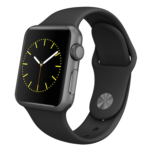�����-���� Apple Watch Sport 38mm Space Gray Al/Black (MJ2X2RU/A)