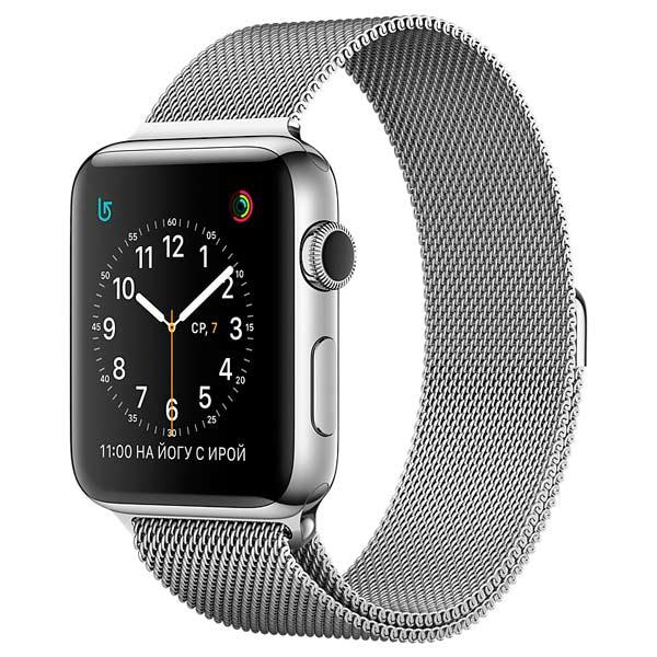 Смарт-часы Apple Watch Apple 42mm Stainless Steel/Milanese Loop (MJ3Y2RU/A)