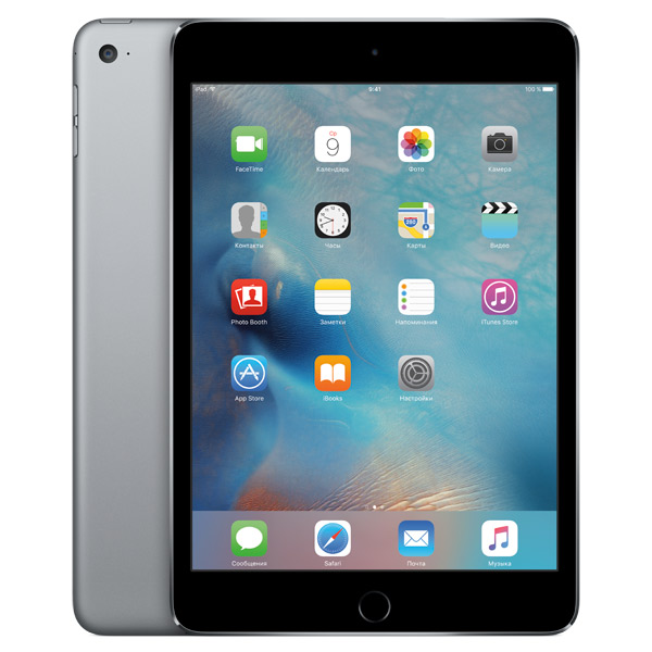 Планшет Apple iPad mini 4 Wi-Fi 128GB Space Gray (MK9N2RU/A) ipad mini 4 wi fi 64gb space gray